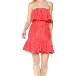 KeepSake The Label Women Strapless Ruffle Mini Red